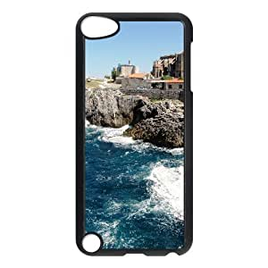 For Iphone 5C Phone Case Cover Harbor Building Hard Shell Back Black For Iphone 5C Phone Case Cover 306746