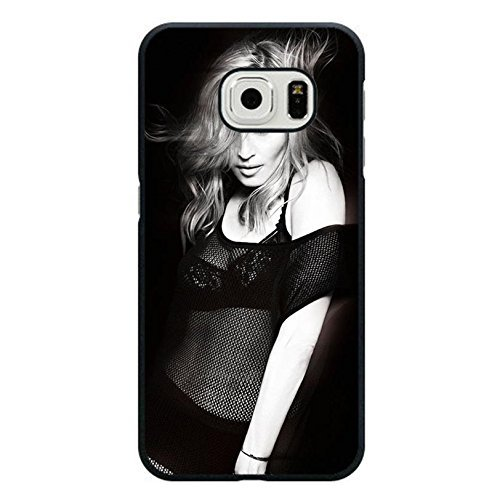 Case Shell Fashion Sexy Black Lace Super Singer Madonna Ciccone Phone Case Cover for Samsung Galaxy S6 Edge Madonna New Stylish