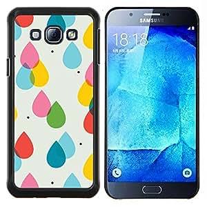 Stuss Case / Funda Carcasa protectora - Pluie Rose Jaune Polka Dot Summer - Samsung Galaxy A8 A8000