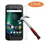[3 Pack] GreenElec Moto G Play (4th gen) Tempered Glass Screen protector 0.3mm [9H Hardness] [Anti-Scratch] [Anti-Bubble] [No-Bubble] [Case Friendly] for Moto G G4 Play