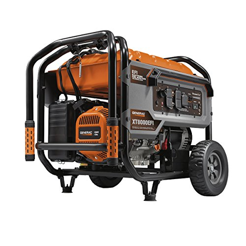 Generac 7162 8000 Watt Electronic Fuel Injection Portable Generator-EPA/CARB, Orange, Gray, Black