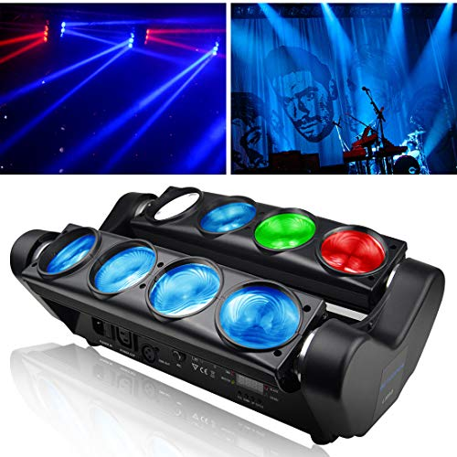 Betopper DJ Stage Light 8x8W Super Bright RGBW Disco LED Moving Head Lighting for Concert,Party,Stage,Restaurant etc.]()