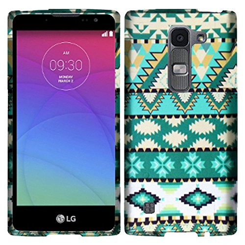 (HR Wireless Carrying Case for LG Escape 2 Logos Spirit - Retail Packaging - Mint Green Aztec)