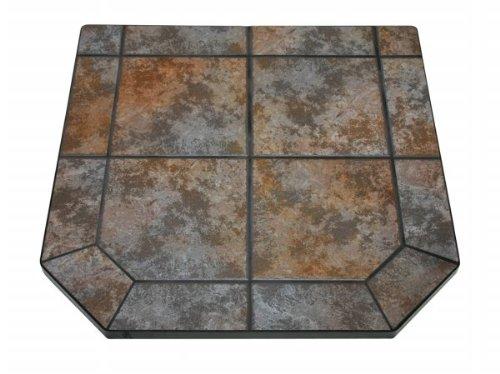 Hearth Board Hearth Pad (American Panel 48 sl tt Tartara Single Cut Corner Stove Board 48 Inch x 48 Inch)