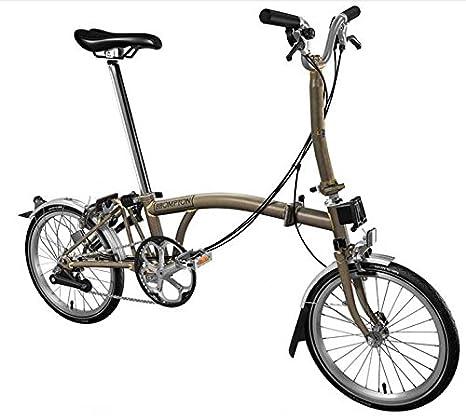 Bici Pieghevole Brompton.Brompton M6l 2017 Raw Lacca Bici Pieghevole Amazon It