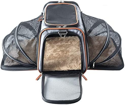 Premium Luxury Tote Airline Approved Expandable Pet Carrier By Pet Peppy Two Side Expansion Designed For Cats Dogs Kittens Puppies Extra Spacious Soft Sided Carrier Grey Amazon Ca Pet Supplies