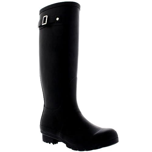 1a4136b56900c0 Damen Original Tall Schnee Winter Regen Wellies Gummistiefel Stiefel -  Schwarz - 36 - CD0001