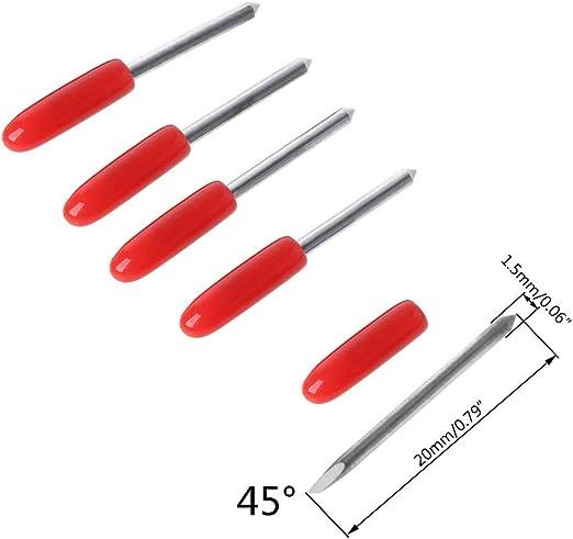 Faguo Plotter de Corte de Cuchillas 5Pcs 30 ° / 45 ° / 60 ° para ...