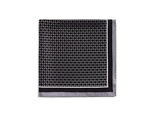 The Men's Store at Bloomingdale's Circle Link Pocket Square (Black/White) (Square Circle Link)