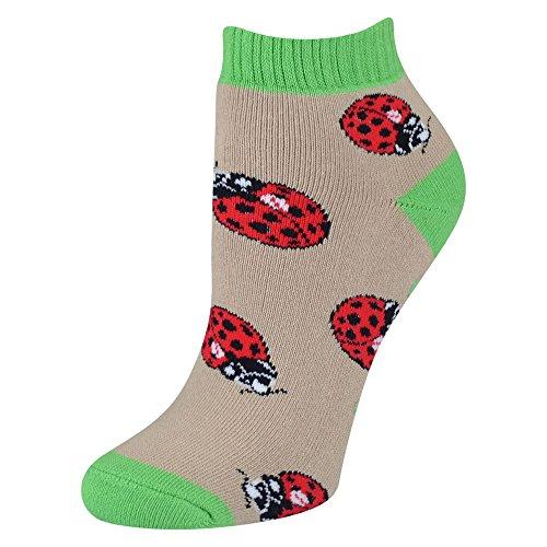 Ladybug Shorty Slipper Socks (Large)