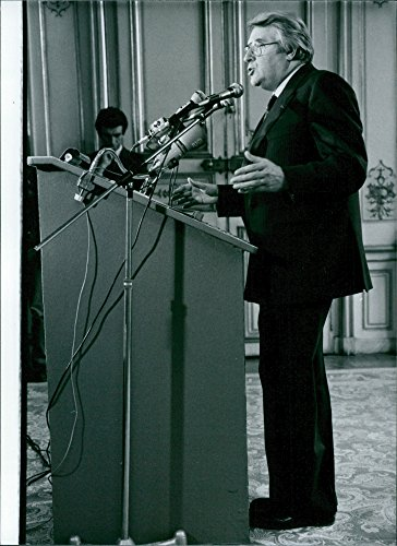 Vintage photo of Pierre Mauroy, Prime Minister of France since May 1981.