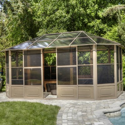 Gazebo Penguin 41218 4-Season Solarium, 12 by 18-Feet