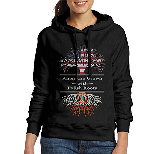 SmallTing WXF Womens American Grown With Polish Roots Casual Style Hiking Black Sweater (Clemson Optic)