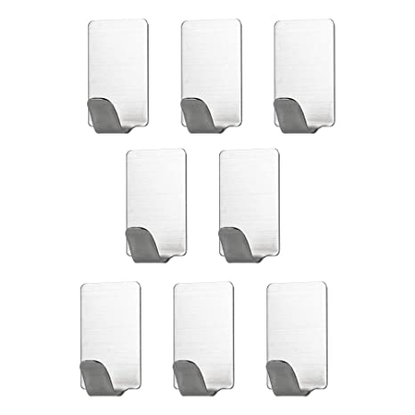 Amazon.com: Festnight Adhesive Hook 8pcs Stainless Steel ...