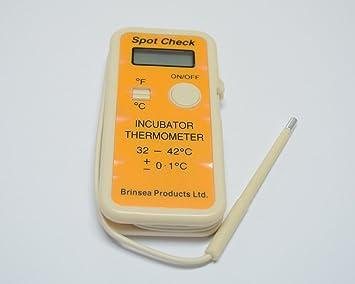 Termómetro digital para incubadora calibrado con certificado Spot Check Brinsea: Amazon.es: Jardín