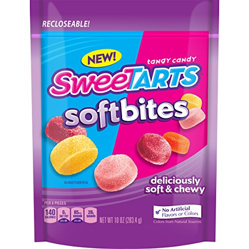 SweeTARTS Soft Bites Candy, 10 oz Bag -