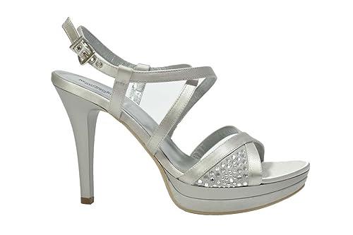 bello e affascinante prezzo incredibile molte scelte di Nero Giardini Sandali Eleganti Argento 0970 Scarpe Donna ...