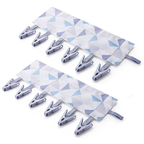 JCBIZ 2-Pack Multifunction Bathroom Racks Cloth Hanger Cloth
