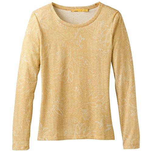 (prAna Women's Francie Top Athletic Sweaters, Medium, Sunray Rosewood)