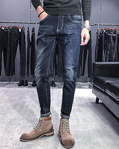 Lunghi Elasticizzati Da Dritto Nero Pantaloni Uomo Jeans Slim Fit x7wHUx0tqn