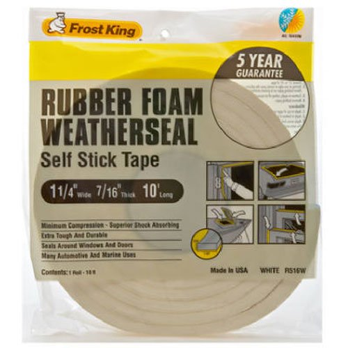 Frost King R516WH Sponge Rubber Foam Tape 7/16-Inch, White