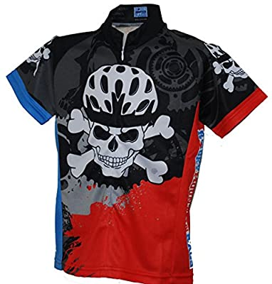 Rocky Mountain Rags Children's Skull and Cross Cycling Jersey