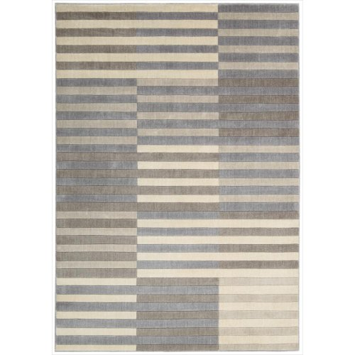 Nourison Urban Stripe (UTP07) Light Multicolor Rectangle Area Rug, 7-Feet 9-Inches by 10-Feet 10-Inches (7'9