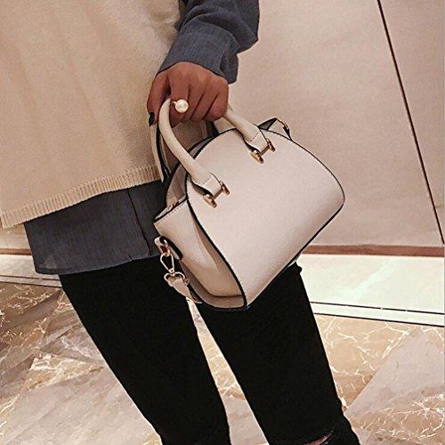 LHWY Scrub Mujer Bolsa Bandolera Casual Simple Tote Fresh Messenger Bolsa Bolso White