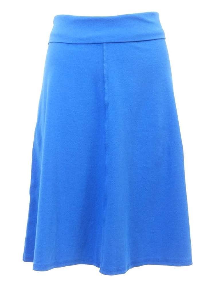 Royal bluee Hard Tail Rolldown Aline Skirt B126