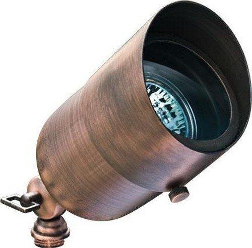 Dabmar LV29-HOOD-ABZ Solid Brass Hooded Spot Light, 20W 12V, Bronze Finish