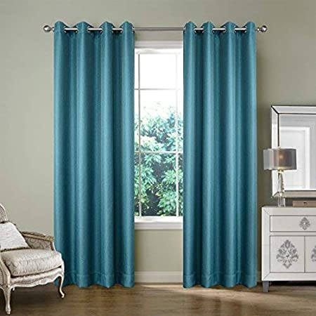 IYUEGO Wide Curtains 120Inch-300Inch for Large Windows Solid Faux Linen Classic Grommet Top Room Darkenning Curtains Draperies with Multi Size Custom 250 W x108 L One Panel