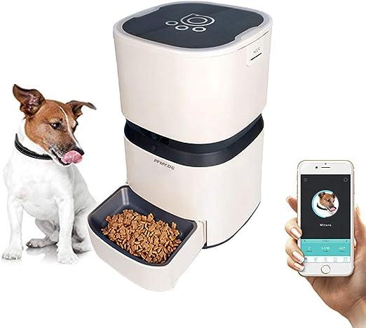 PFMY.DG Comedero Automatico Gatos, Control Remoto WiFi, Temporizador Preestablecido, Cámara HD, Sistema de Grabación de Voz para Android Fácil de Configurar, Alimentador Remoto de Gran Capacidad: Amazon.es: Productos para mascotas