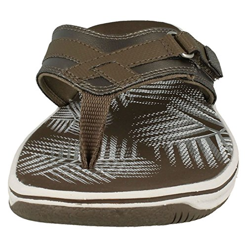 Clarks Brinkley Sea - Pewter Synthetic (Metallic) Womens Sandals Metallic 44dJsAxF82