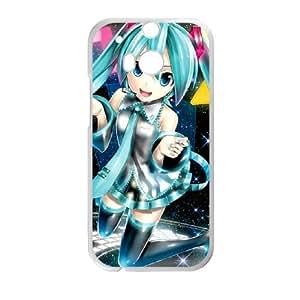 HTC One M8 Cell Phone Case White Hatsune Miku U6J8HS