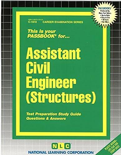 assistant civil engineer structures passbooks career examination rh amazon com Nce Exam Study Guide Nce Exam Study Guide