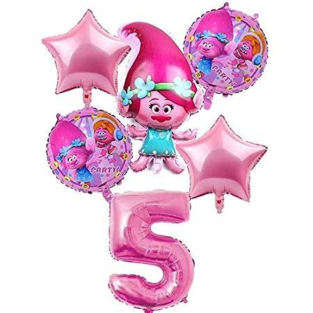 CHENZHAOL Bebé Globo 6 pcs/Set Trolls Balloons Baby Happy ...
