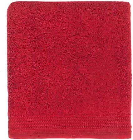 Ajuar rizo Toalla de baño 100% algodón Peinado 600 gr. Rojo (Ducha 70 x 140 cm): Amazon.es: Hogar