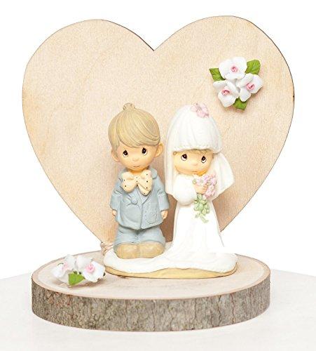 Precious Moments Wood Rustic Wedding Cake Topper
