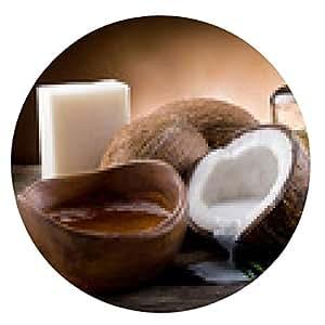 alfombrilla de ratón natural de coco aceite de nuez y jabón - ronda - 20cm