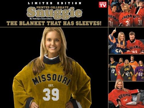 Fabrique Innovations NCAA Uniform Snuggie, Missouri Tigers