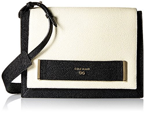 Cole Haan Sling - Cole Haan Eva Clutch Shoulder Sling Bag, Ivory/Black, One Size