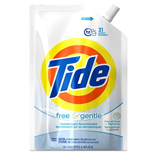 Tide Free & Gentle HE Liquid Laundry Detergent, 48 Fluid Ounce (62 Loads), 2 Count
