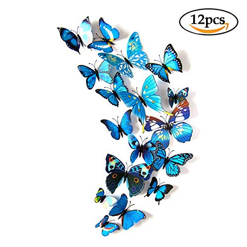 Black Friday Deal 12 Pcs 3D Beatiful Butterfly Wall Sticker Home Removable DIY Decorations for Baby Kids Room Art Decor Fridge Stickers