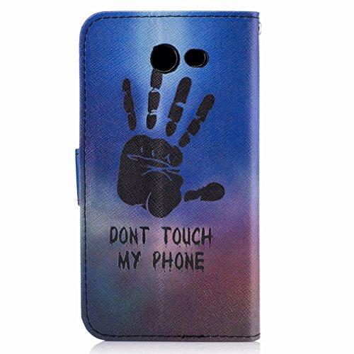Yiizy Samsung Galaxy J3 Prime Custodia Cover, Mano Fredda Design Sottile Flip Portafoglio PU Pelle Cuoio Copertura Shell Case Slot Schede Cavalletto Stile Libro Bumper Protettivo Borsa