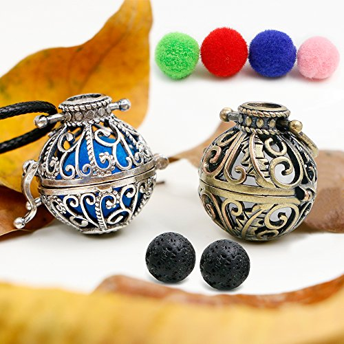 apy Essential Oil Diffuser Necklace 2 Garden Style Pendant Locket with a 24