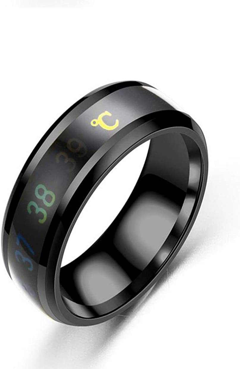 Max Temperature Monitor Ring Digital Body Thermometer Sensor Smart Band