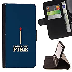 Jordan Colourful Shop - match blue white fire love valentines For Apple Iphone 5 / 5S - Leather Case Absorci???¡¯???€????€???????&bdq