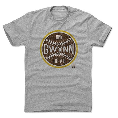 Padres T-shirts - 500 LEVEL Tony Gwynn Cotton Shirt (X-Large, Heather Gray) - San Diego Padres Men's Apparel - Tony Gwynn Ball N