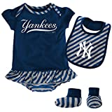 MLB New York Yankees Infant Girls Bib & Booty-18 Months, Athletic Navy