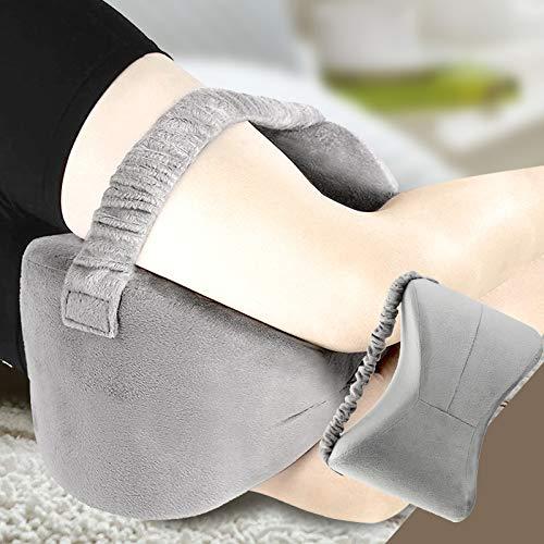 Enshey Knee Wedge Pillow - Memory Foam Knee Pillow Clip Leg Pillow Wedge Slow Rebound Massage Pillow Pregnant Woman Knee Pillow